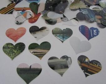 500 paper hearts wedding confetti die cut confetti photo cuts 500 pieces