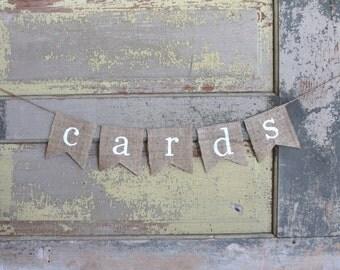 Cards Banner, Cards Sign, Wedding Cards Decoration