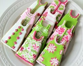 Lilly Pulitzer Inspired Shift Dress Decorated Cookies, Pink and Green theme, Perfect for your summer party, chum bucket