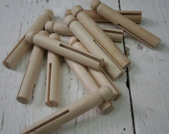 Wooden Doll Clothespegs, Clothes Pins, Dolly Pegs, Crafting Pegs, Old Fashioned Pegs