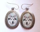 husky original wearable art earrings