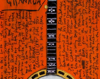 Banjo Art. Earl Scruggs Vintage 1930 Gibson Granada Mastertone Banjo. 11x17.