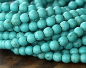 Magnesite Beads, Light Teal, 6mm Round - 15.5 inch Strand - eGR-MG003-6