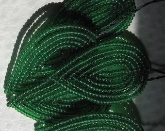 Vintage Millinery Green Seed bead Leaf Leaves 39MM Rare