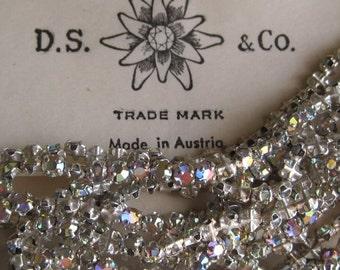Vintage Swarovski Crystal AB 13SS 3MM Rose Montees Sew On Beads