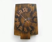 rustic wall clock, unique wall clock