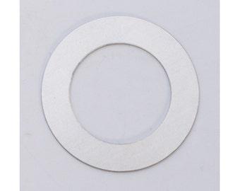 """Nickel Silver Stamping Blanks Washer 1 3/8"""" 24ga Pkg Of 6"""