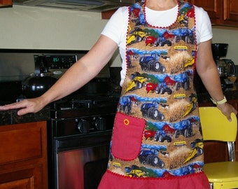 Woman's Country Farm and Tractor Apron-Size Large