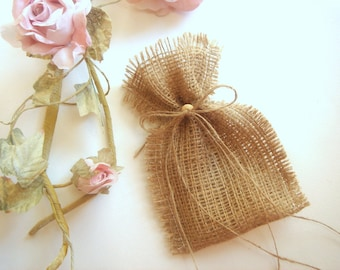 50 Burlap Bags,Rustic Wedding  favor bags ,Rustic eco friendly bags
