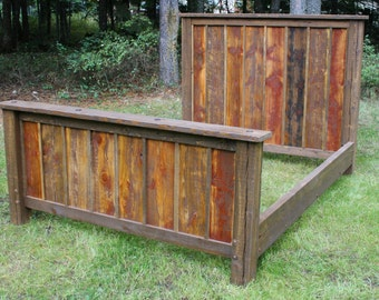 Reclaimed Rustic Bed
