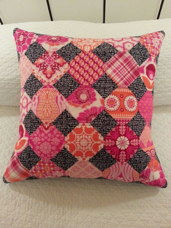 SALE Modern Quilted Pillow Cover