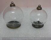 Ball Shape Miniature Glass Dome Charm