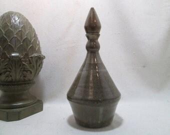 Modern Ceramic Urn  Vase  Vessel  Top Lid