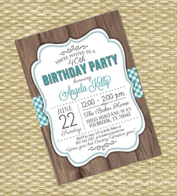 Adult birthday invitation 40th birthday bbq invite western theme il570xn filmwisefo