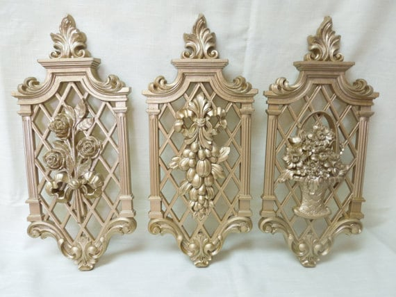 Syroco Wall Hangers Plaques Flowers Fs 370