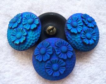 Czech  Glass Buttons  4 pcs  gorgeous MATE   22mm      IVA 168