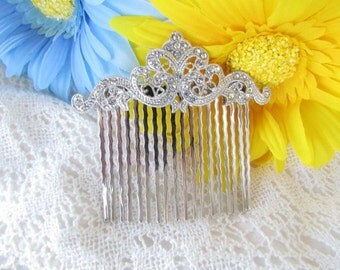 Rhinestone Hair Comb, Crystal Hair comb,Bridal hair accessories,bridal hair comb, wedding hair comb,vintage inspired hair comb, bridal tiara