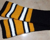 NFL Pittsburgh Steelers Fingerless Gloves Arm Warmers Crocheted