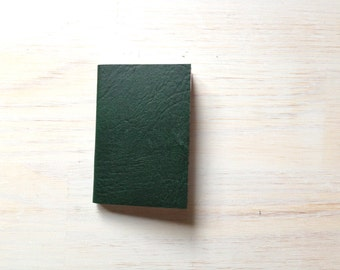 Notebook: Small Blank Journal, Green, Forest Green, Green Journal, Bound, Notebook, Small, Jotter, Mini Journal, Small Notebook, Unique