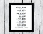 What A Difference A Day Makes Adoption Day Dates   Custom Print 8x10 11x14 11x17 13x19 16x20