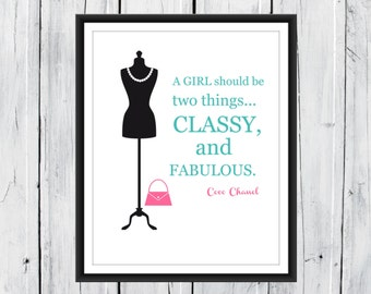 Dorm Decor - Teen Girl - A Girl Should be.... CANVAS PRINTING  available