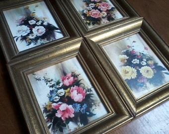 SALE Small Framed Floral Prints