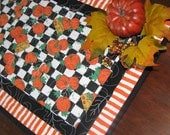 Quilted Table Runner - Table Topper - Pumpkins for Sale
