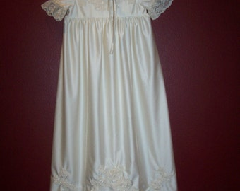 Made to order.....Baptismal Gown and Bonnet....Up-cycled from your Wedding dress.....