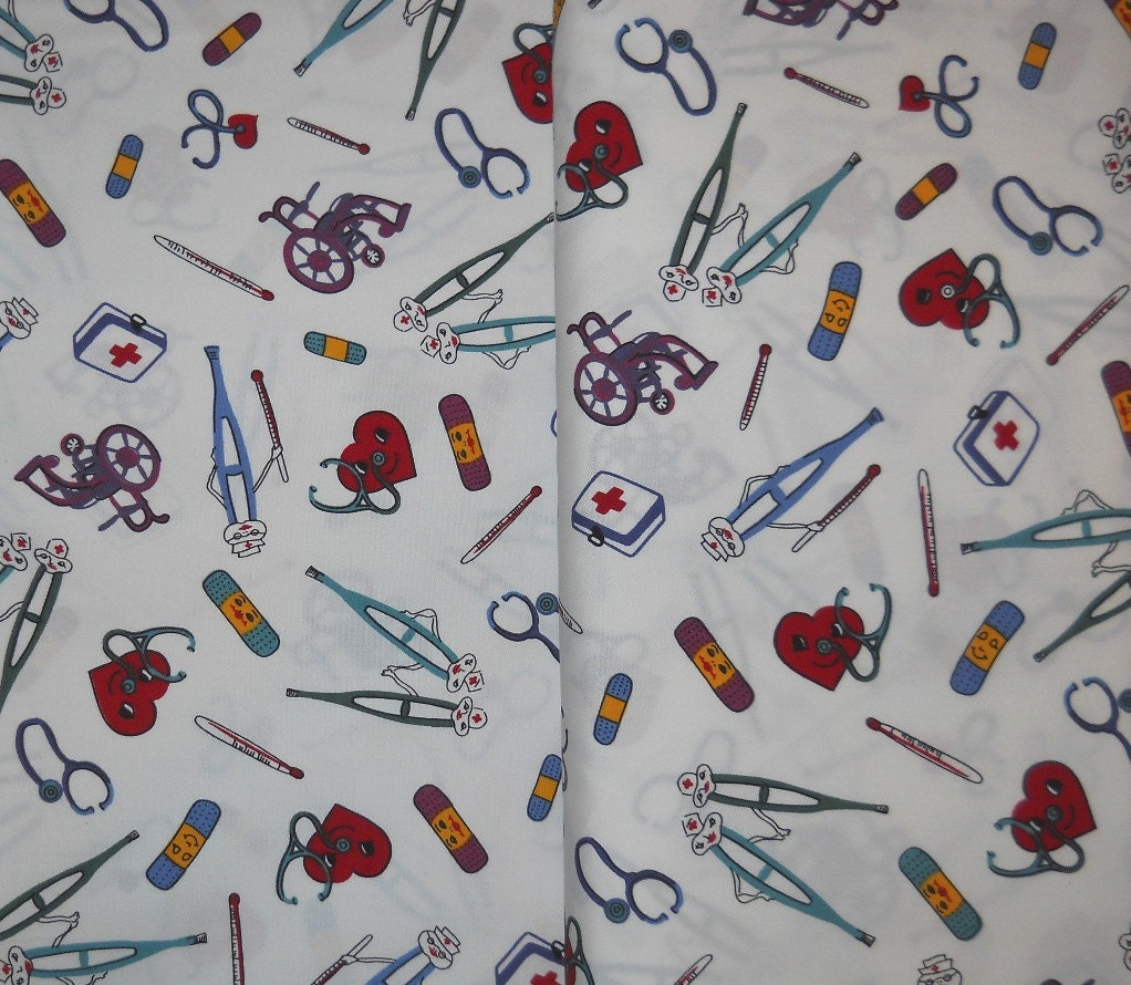 Fabric medical wheelchair thermometer crutches by fabfabricsnstuff
