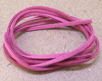 "10 yard 390""Faux Suede Purple Pink  Leather Cord  Quality  Jewelry Line 3mm Necklace Cord Bracelet Cord Jewelry Cord  handwork jewelry Line"