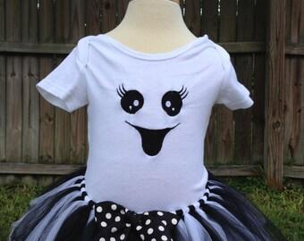 Ghost Halloween Costume - Ghost Tutu - Ghost Shirt - Ghost Costume
