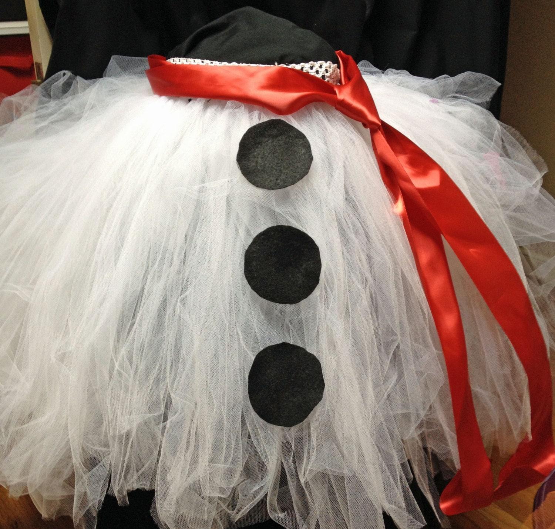 Snowman christmas tree skirt tutu