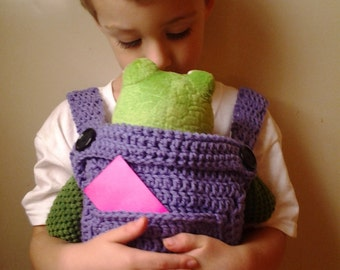 Crochet Pattern For Doll Sling : Crochet Baby Doll Carrier-Mei Tai