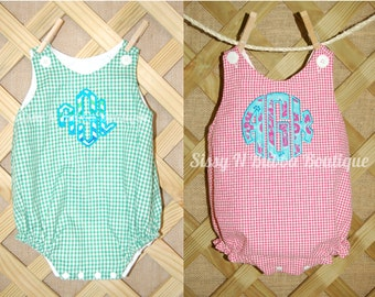 Taylor Boy or Girl Bubble Romper (Chevron, Checks, and Plaids)