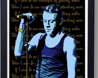Macklemore 'Starting Over' graffiti style stencil poster print