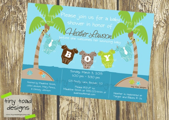 beach baby baby shower invitations baby boy diy printable