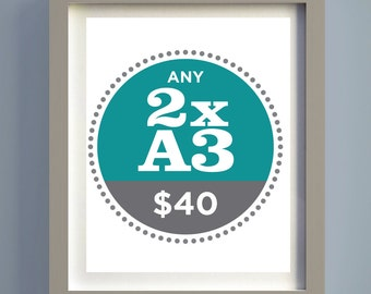 Pick Any Two A3 Prints and Save...