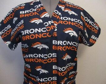 Denver Broncos scrub top