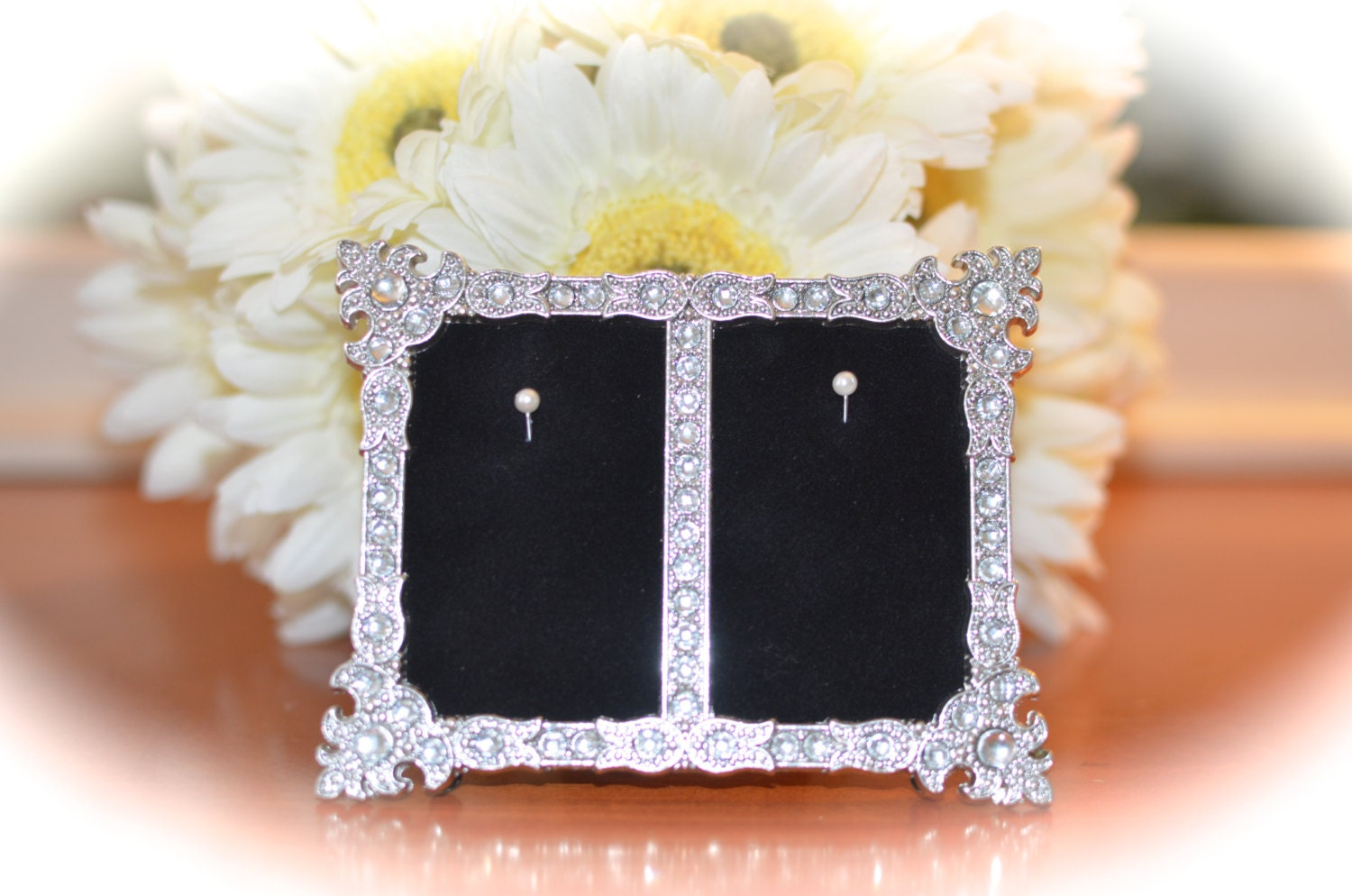 Double Engagement Amp Wedding Ring Picture Frame Ring
