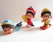 Monchhichi Figurines Lot of 3