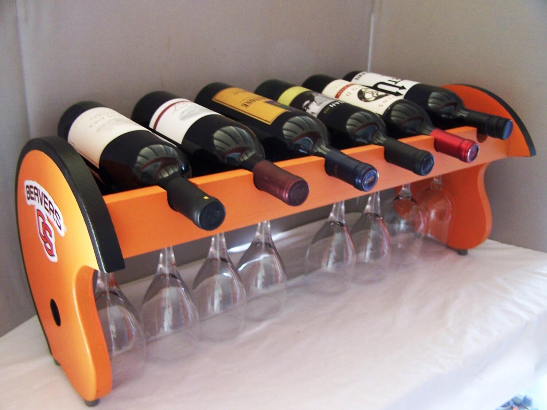 """Hand Made Designer Wineholder """"Football Touchdown"""" Wine ...  Soccer Wine Holder"""