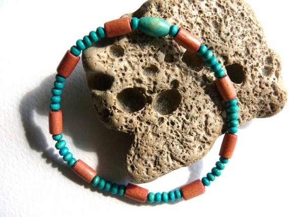 Bracelet, wooden beads, elastic cord, unique selection of colors, Birthday gift, yellow orange bracelet, green bracelet, blue, red