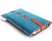 iPhone 7 case, iPhone 7 Plus Sleeve, iPhone 6S Case, iPhone 6s Plus Sleeve, Samsung, Nexus. HTC- Wave collection- Teal Blue & Orange
