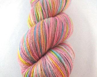 At the Fair - Cotton Candy:  pink sock yarn, cotton candy yarn, hand dyed merino silk yarn, rainbow yarn