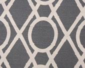 GrayTrellis Pillow-Throw Pillow-Charcoal / White Lattice, Trellis.