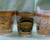 Vintage Culver  Shot glasses   22k Gold by Culver Set of Three