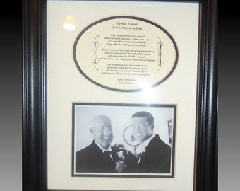 Father of the Groom  Personalized Wedding Gift  Framed Parents Dad Frame