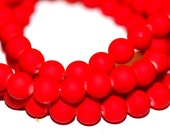 80pc Red Loose Glass beads/ Bracelet beads / Necklace Beads/8mm