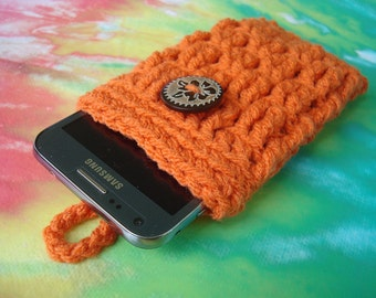 Cell Phone Cozy - Cover - Case - iPhone - iPod Touch - Samsung Galaxy 2 3 4 - Crochet Handmade