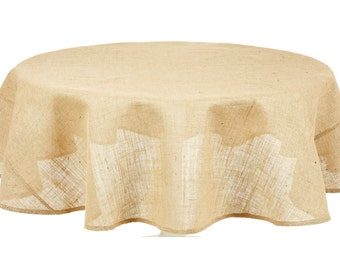 "SHIPS ASAP 90"" Burlap Tablecloth, Burlap Overlays, Natural Burlap"